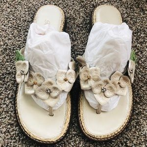 Brighton Oak Pearl Mestizo Flip Flop Sandals